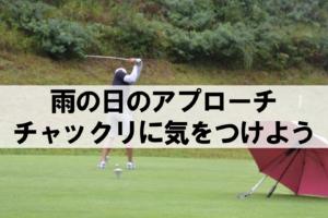 雨が降っていてもゴルフを楽しむ男性ゴルファー